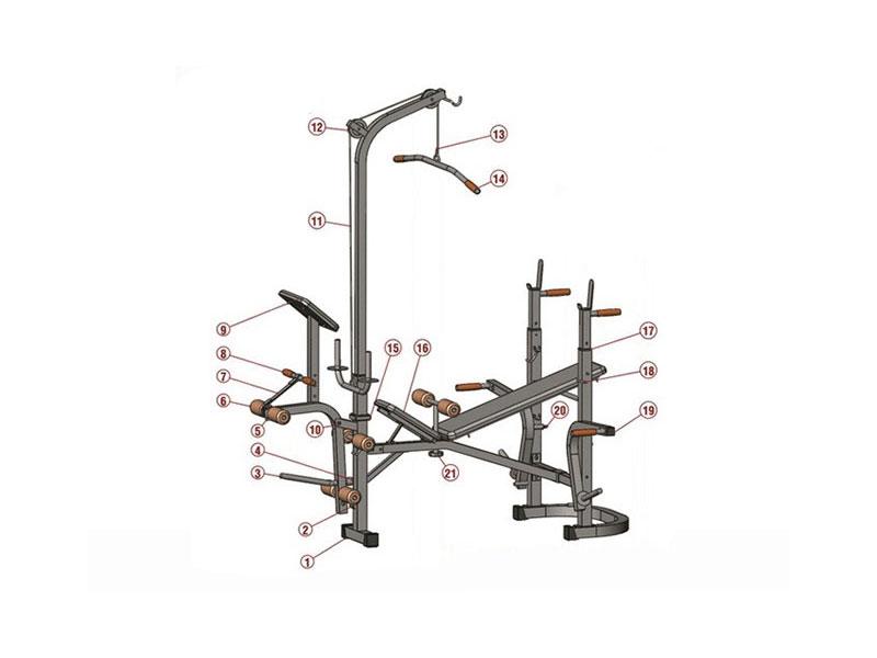 Kích thước ghế tập tạ và cách tự làm ghế tập Gym tại nhà