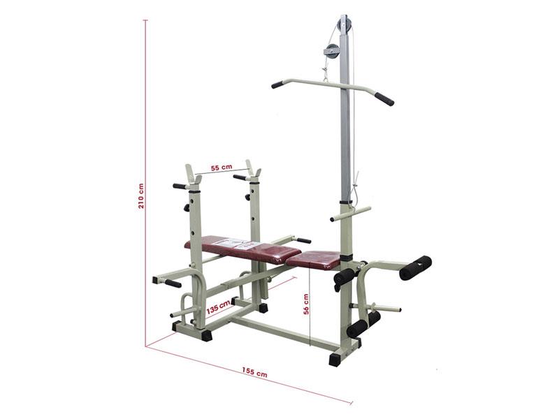 Kích thước ghế tập tạ đơn năng, đa năng bao nhiêu được coi là chuẩn?