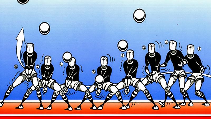 Kỹ thuật chuyền bóng thấp tay bằng hai tay