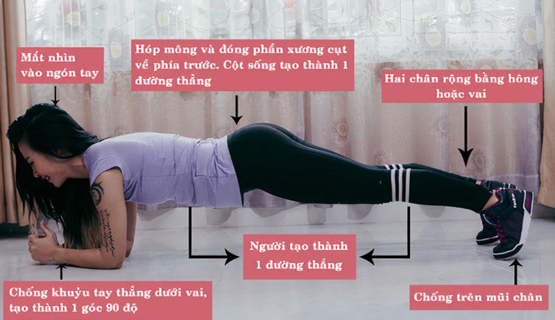 Tập Plank đúng kỹ thuật