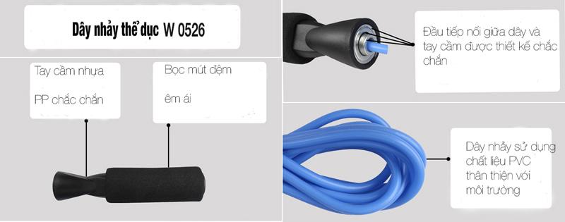 Thiết kế dây nhảy thể dục W0526