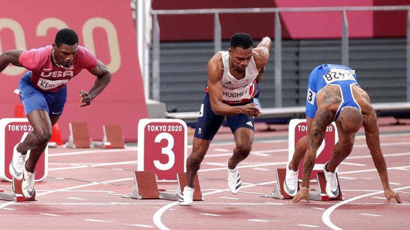Bài tập xuất phát trong chạy 100m